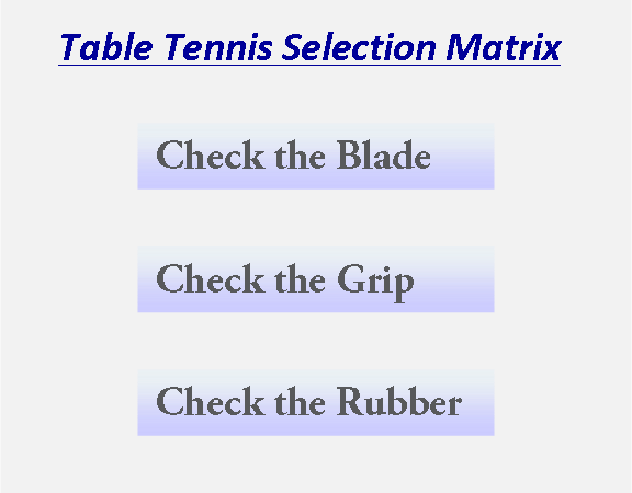 Table Tennis Racket Selection Guide