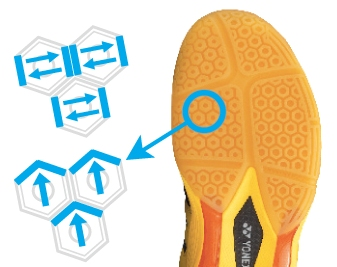 HexaGrip Yones Badminton Shoes @ Khelmart.com