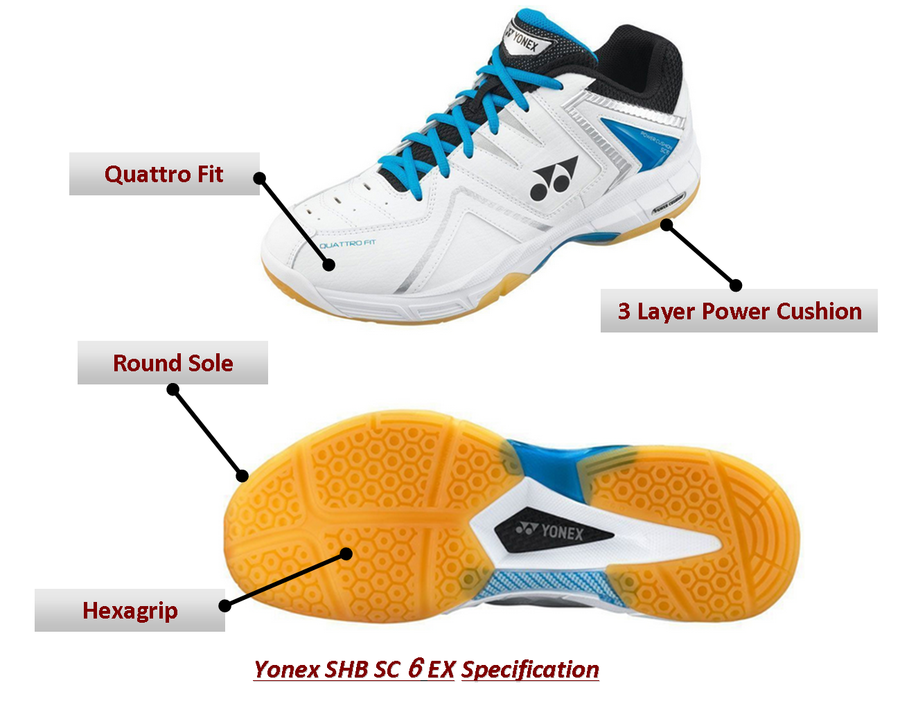 Yonex Badmintin Shoes SC 6EX @Khelmart Badminton Shoes Yonex SC 6EX SHoes Yonex Shoes