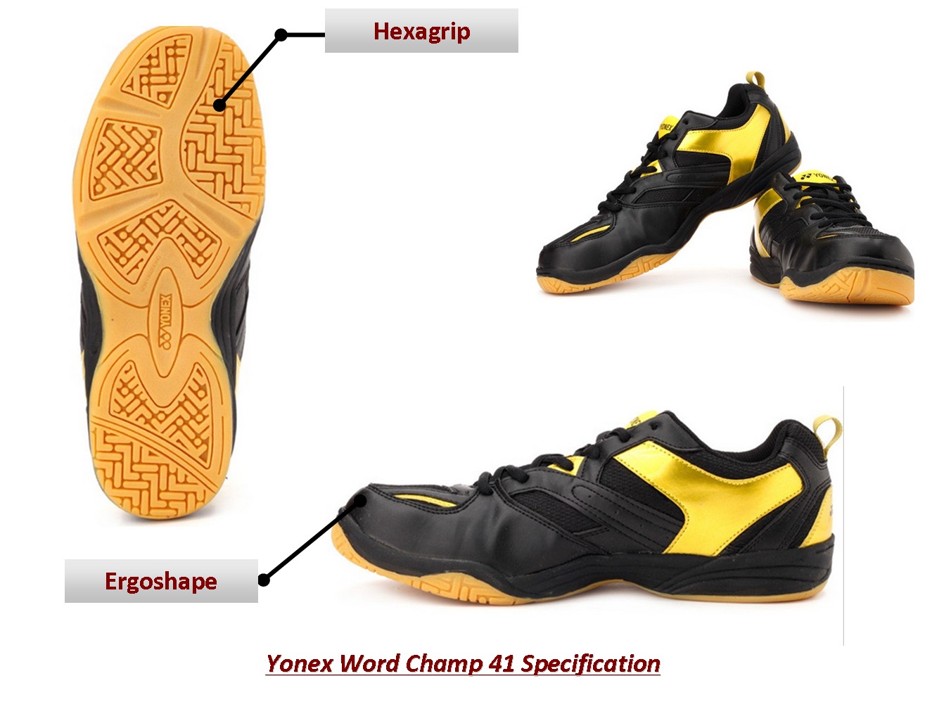 Yonex Badmintin Shoes world champ 41 @Khelmart Yonex Badminton Shoes Yonex WOrld champ 41 Badminton Shoes