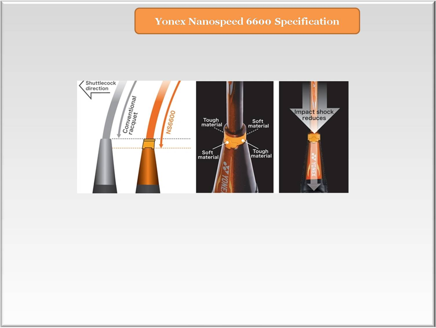 Yonex Nanospeed 6600  Damper System