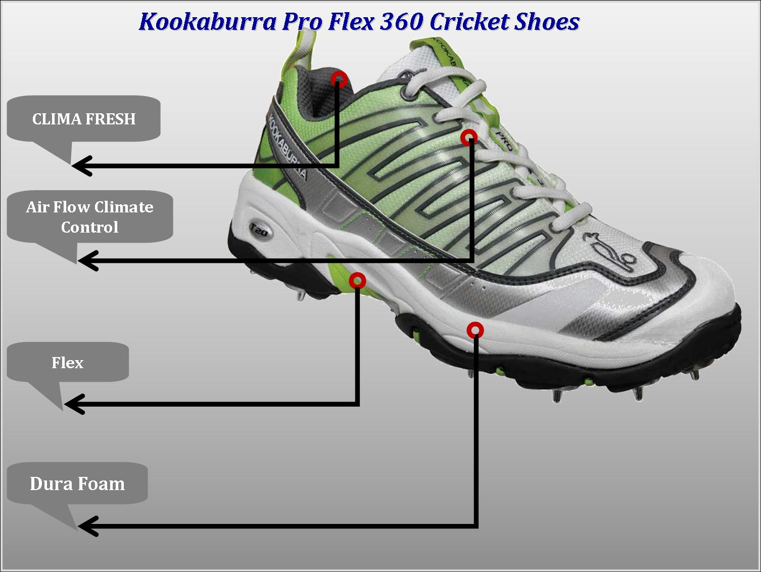 Kookaburra Cricket shoes Technology