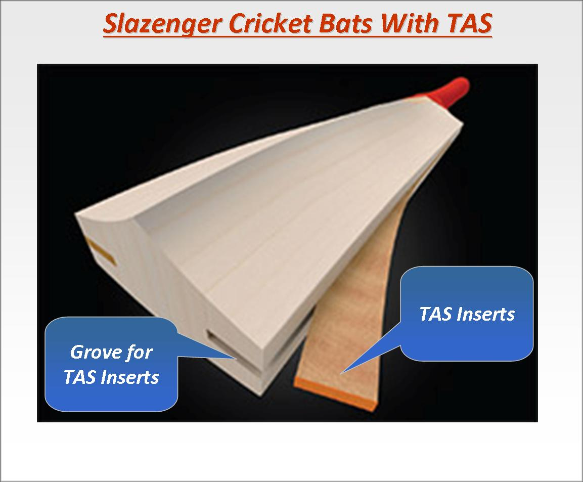 Slazenger Cricket bats Technology TAS 3