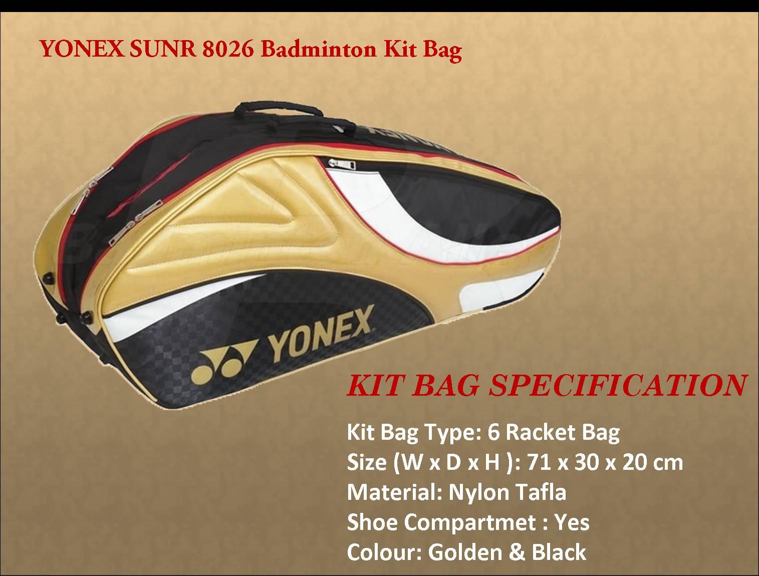 YONEX SUNR 8026 Badminton Kit Bag