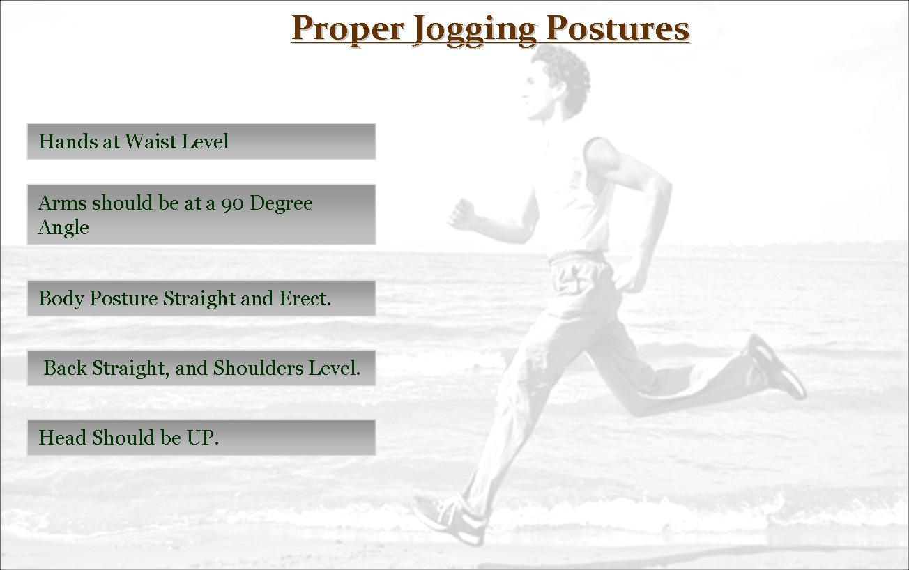 Proper Jogging Postures