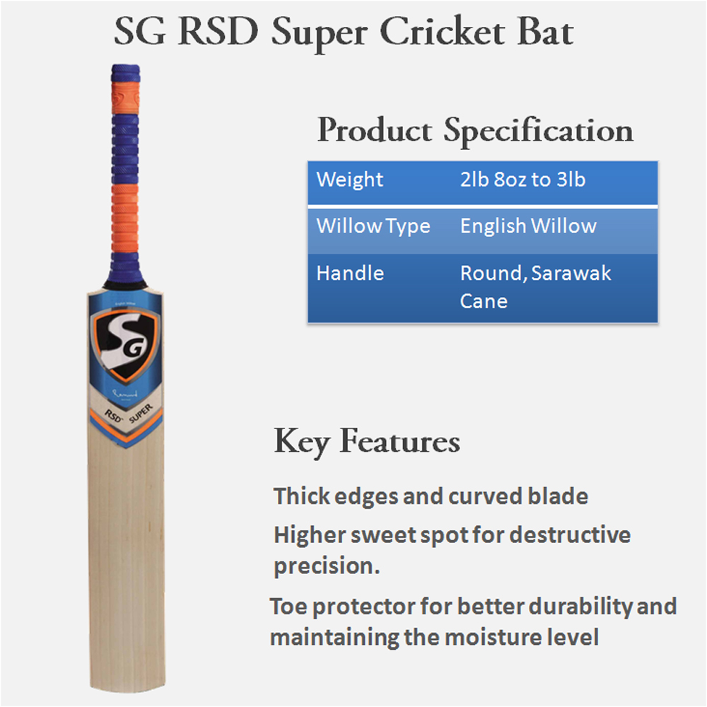 SG Cricket Bat English RSD Super