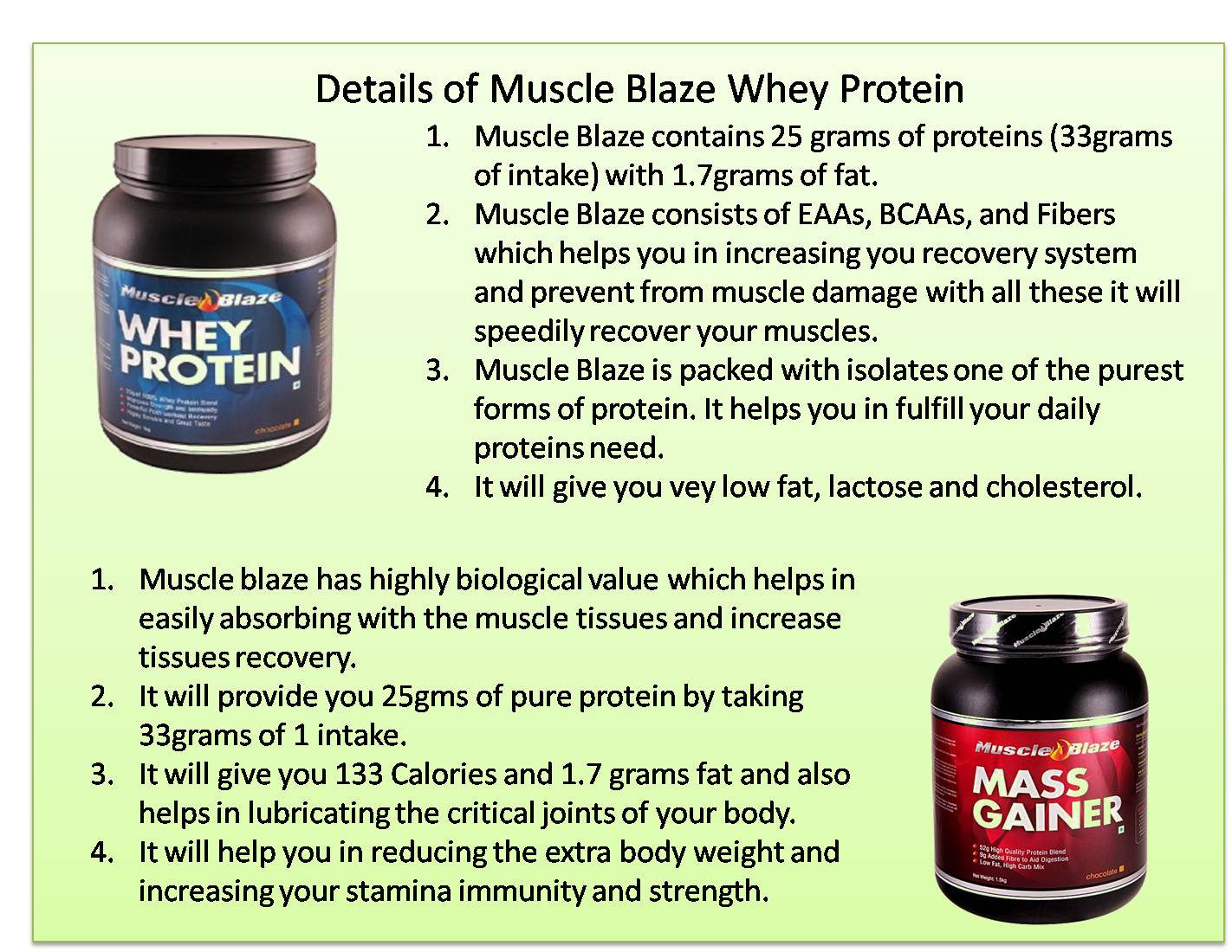 Details of Muscle Blaze Whey Protein