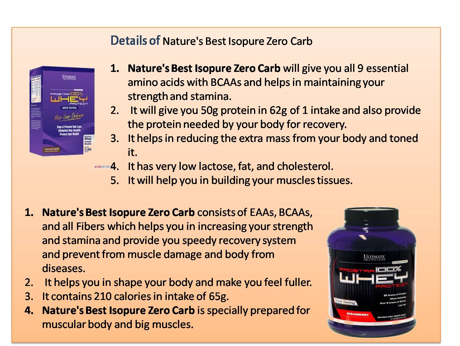 Nature's Best Isopure Zero Carb