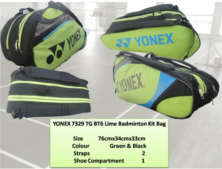 YONEX-7329-TG-BT6-Lime-Badminton-Kit-Bag