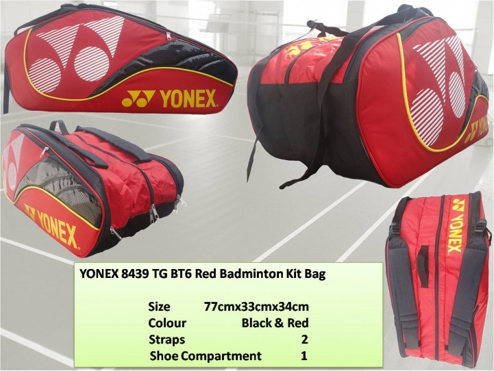 YONEX-8439-TG-BT6-Red-Badminton-Kit-Bag