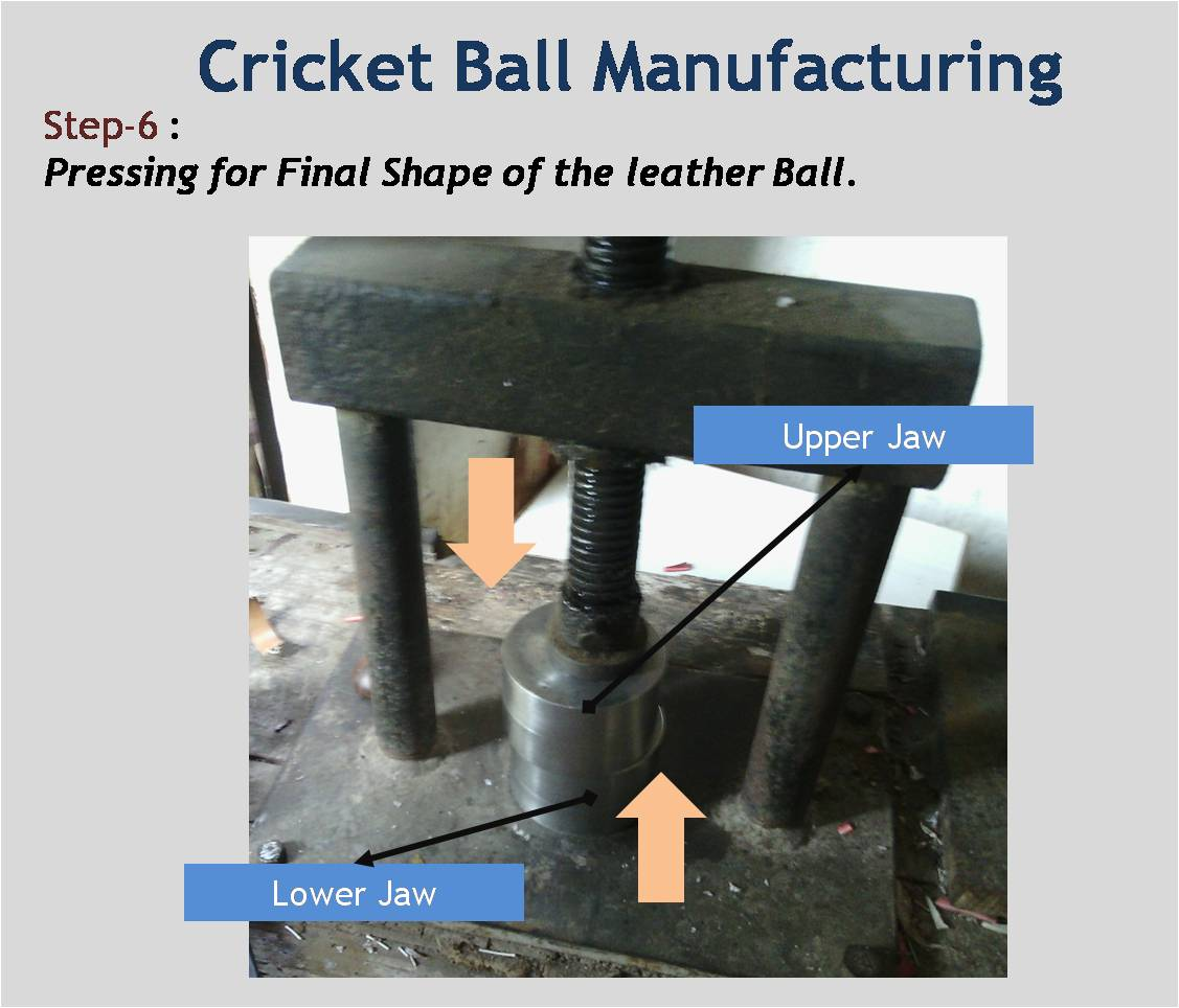 Cricket Ball Manufacturing Final Pressing of Ball