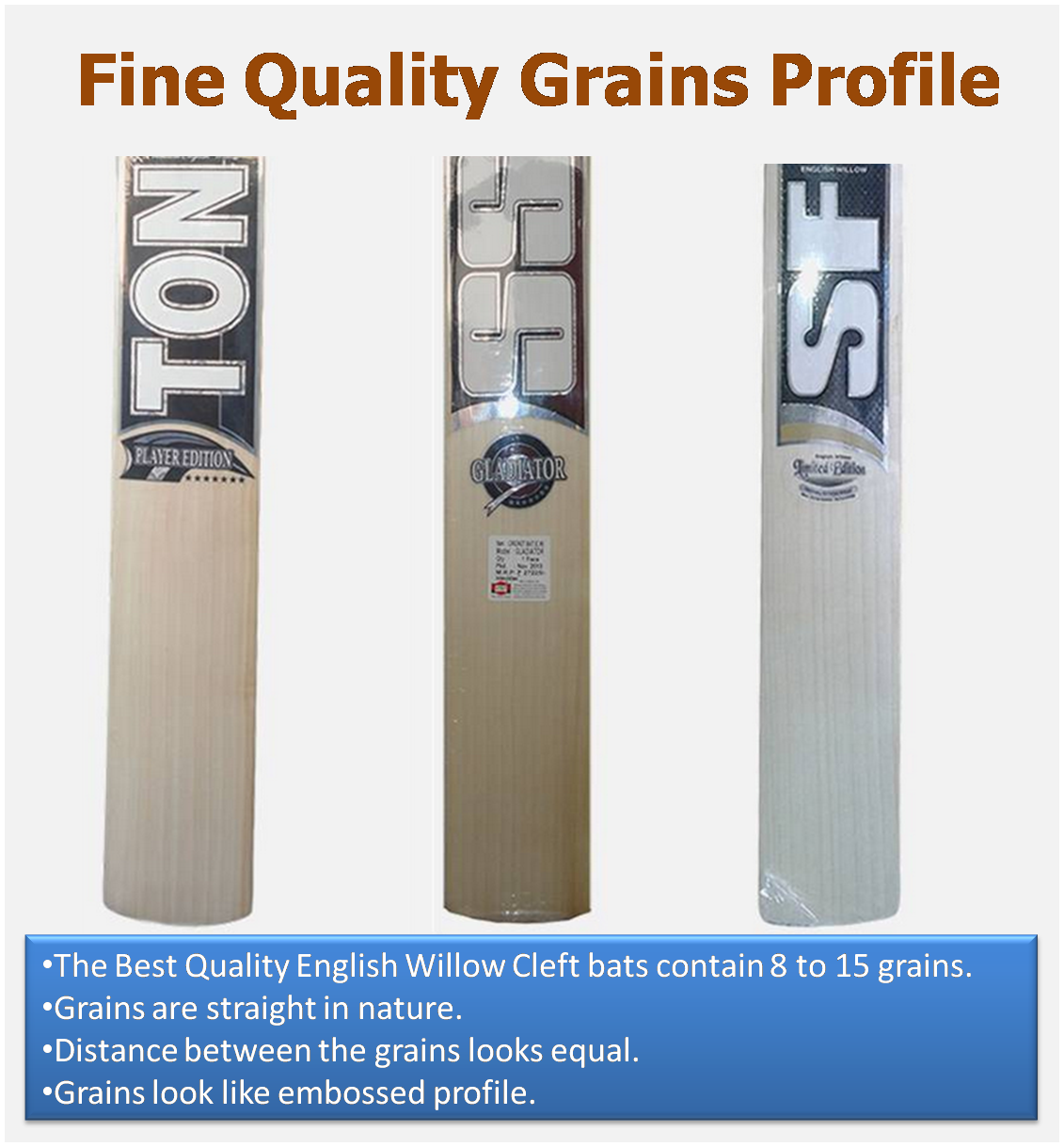 Top End English willow Cleaft Cricket Bats , Best Grains Profile