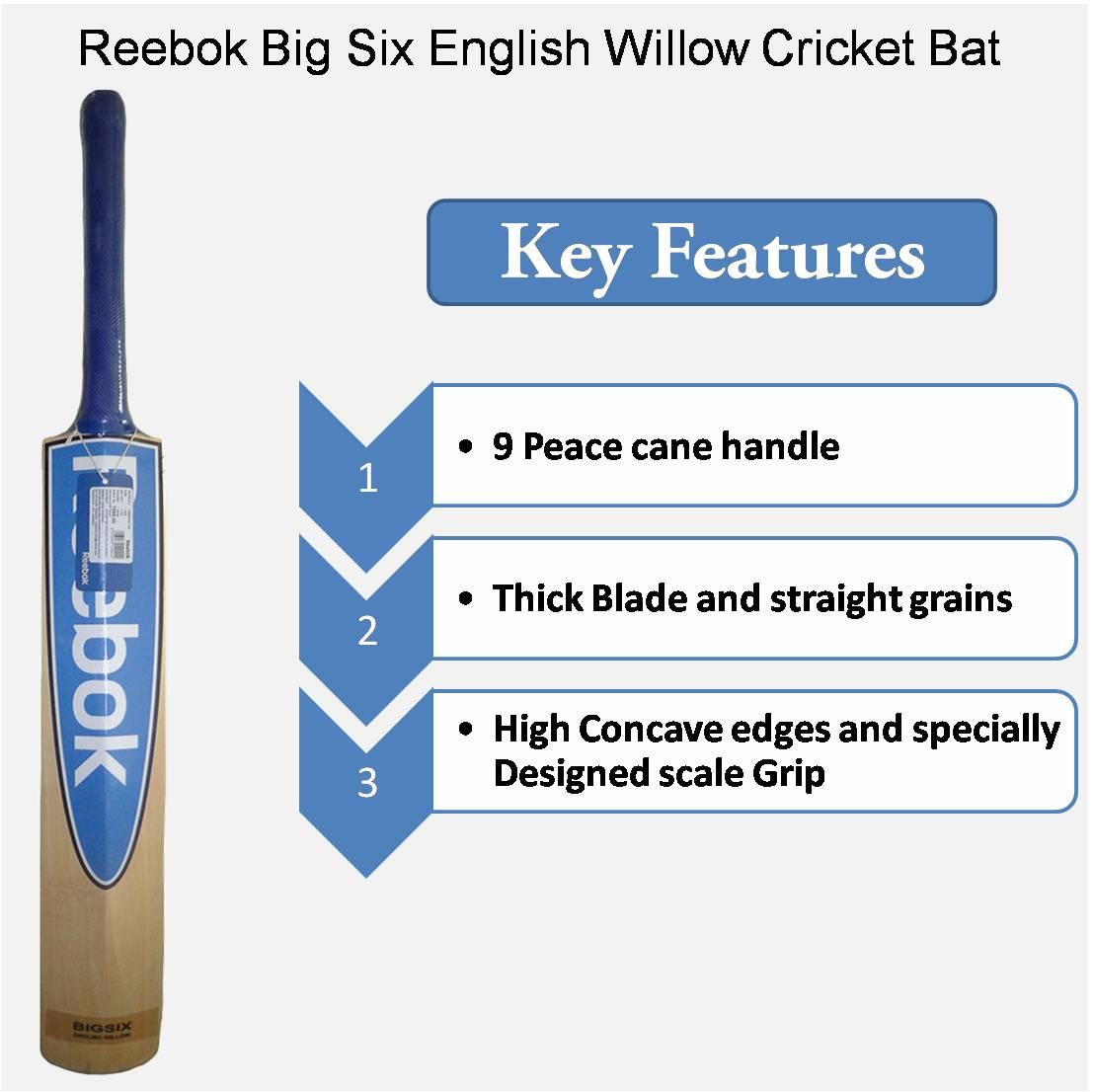 Reebok Big Six English Willow Cricket Bat