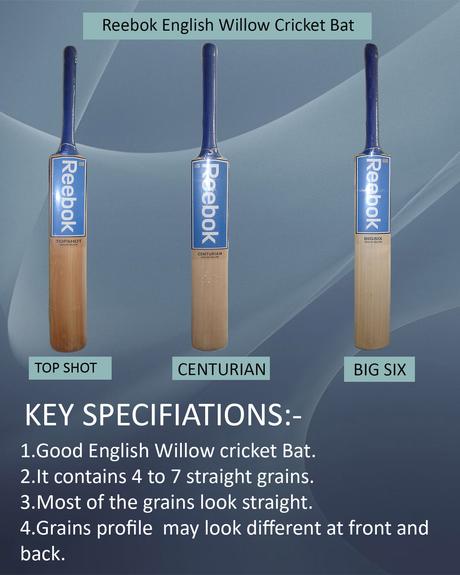 Reebok English Willow Cricket Bats
