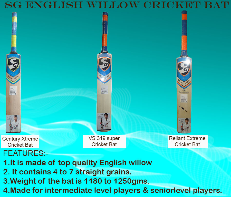 Intermediate SG English Willow Cricket bats