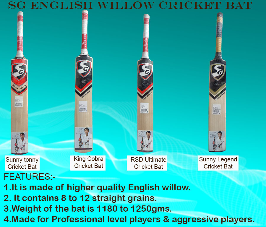 Top SG English Willow cricket bats