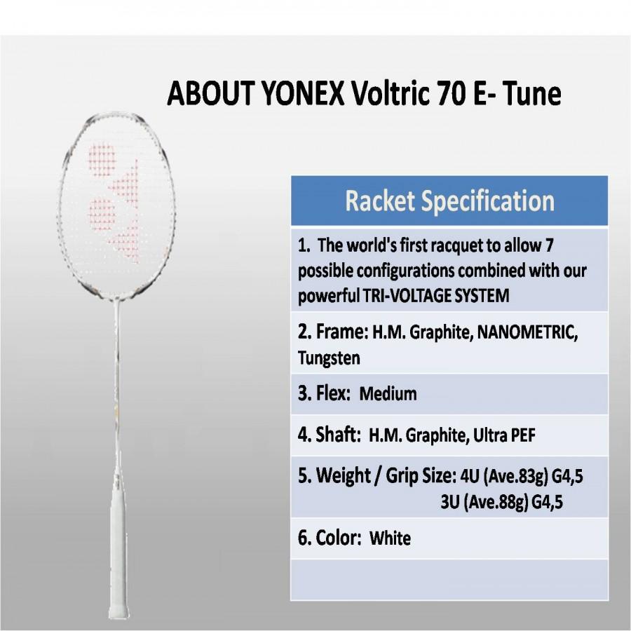 ABOUT YONEX Voltric 70 E- Tune