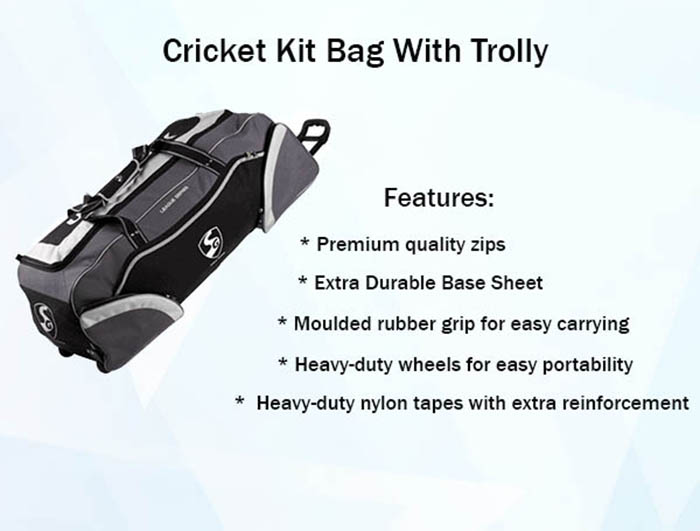 Cricket Kit Bag With Trolly