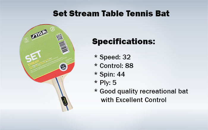 Set Stream Table Tennis Bat