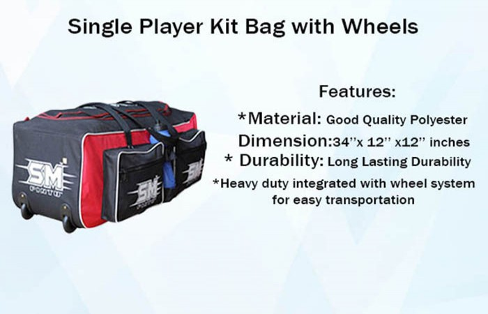 Single Player Kit Bag with Wheels