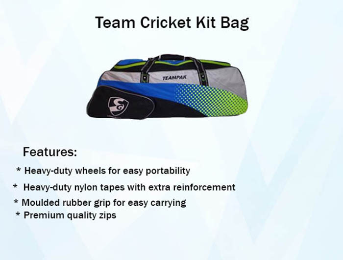 Team Cricket Kit Bag
