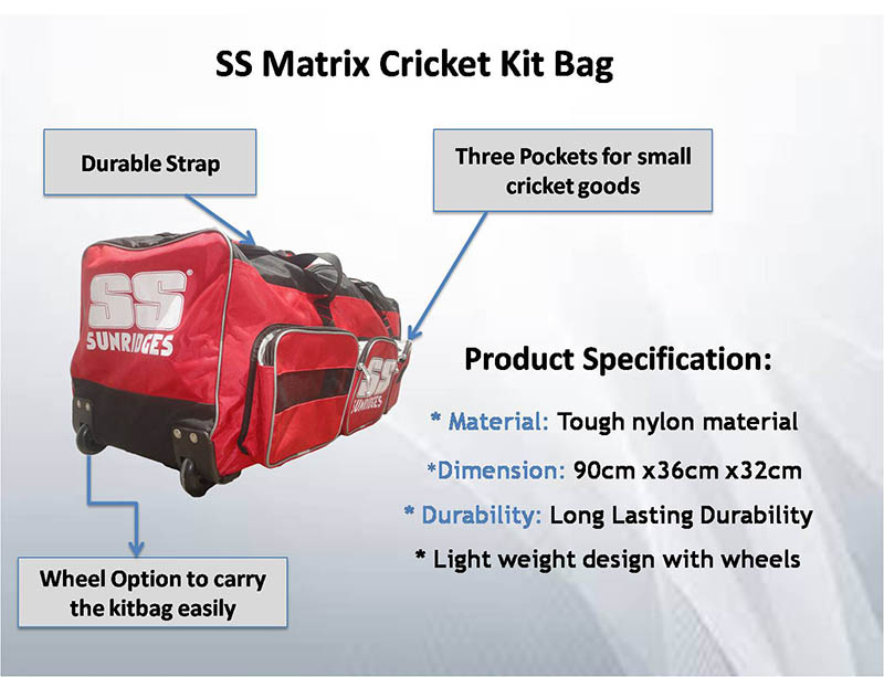SS Matrix Cricket Kit Bag