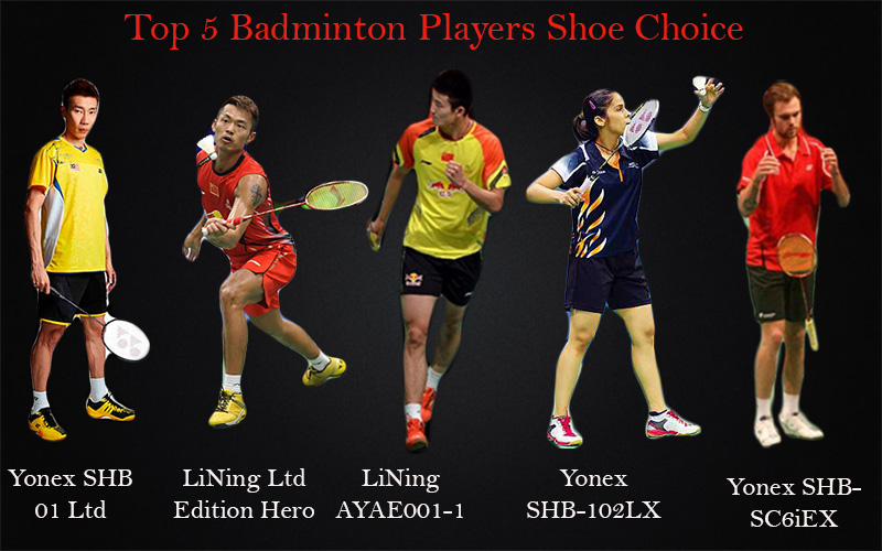 top 5 badminton players shoe choice