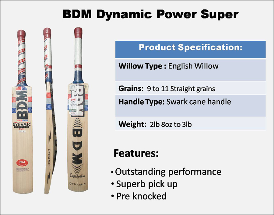 Dynamic Power Super BDM  cricket bat
