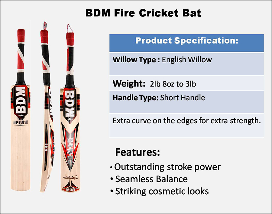 Fire BDM Cricket Bat