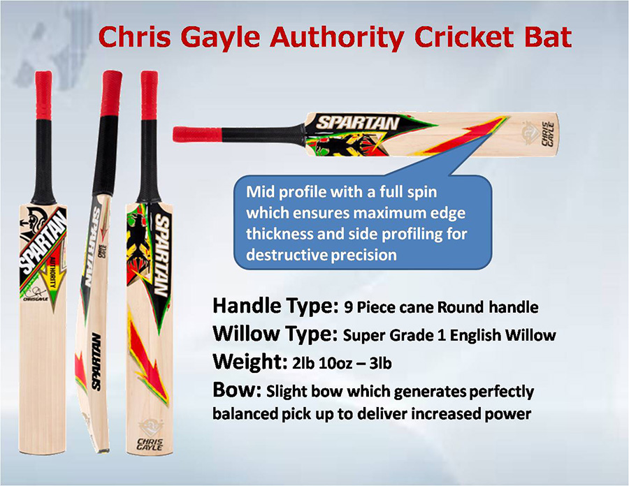 Spartan Chris Gayle Authority Cricket Bat