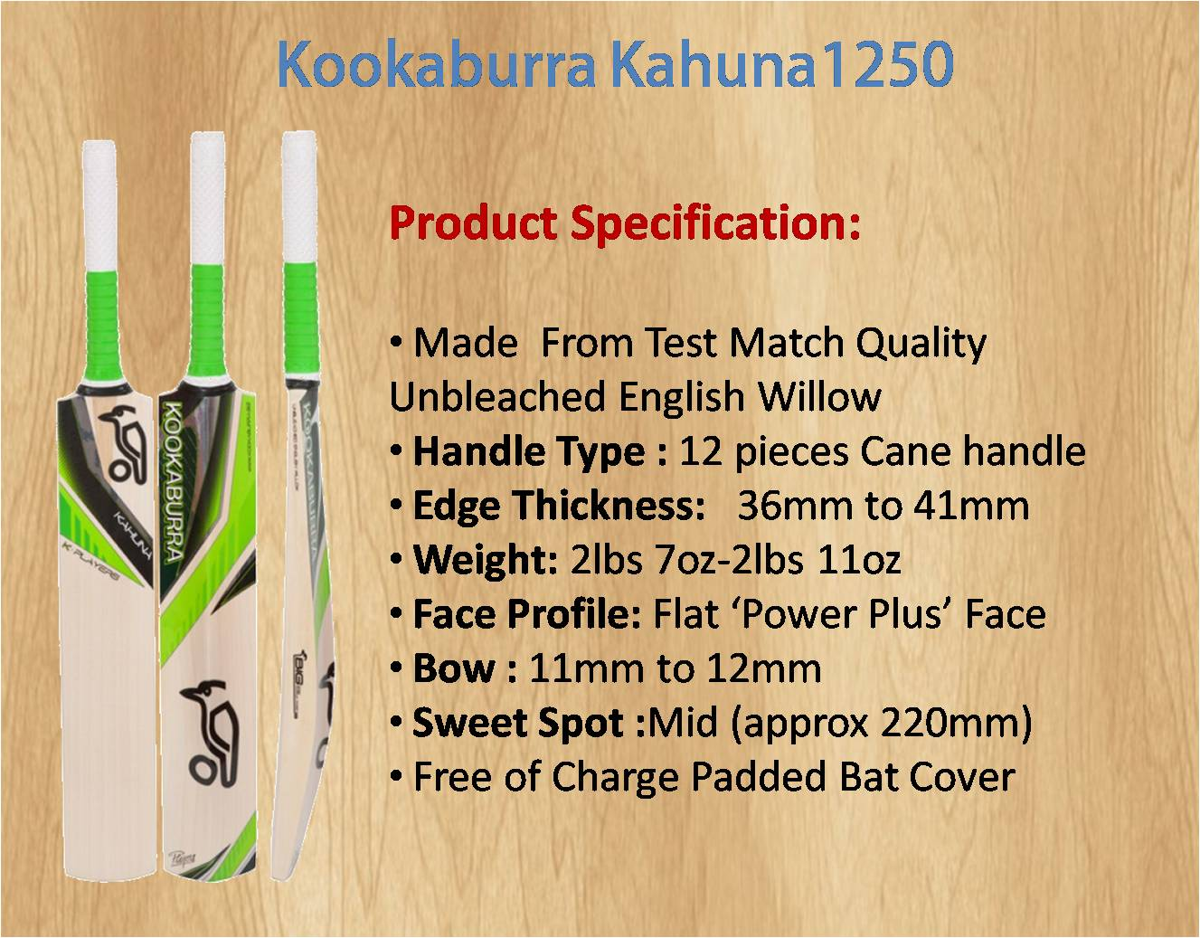 Kookaburra Kahuna1250 Cricket Bat