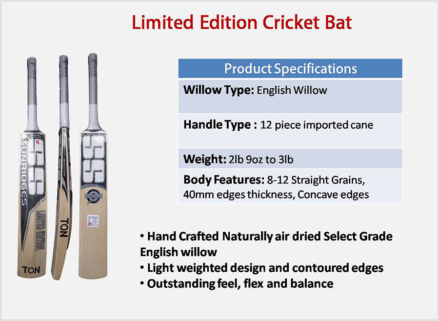 Limited Edition SS English Willow Cricket Bat