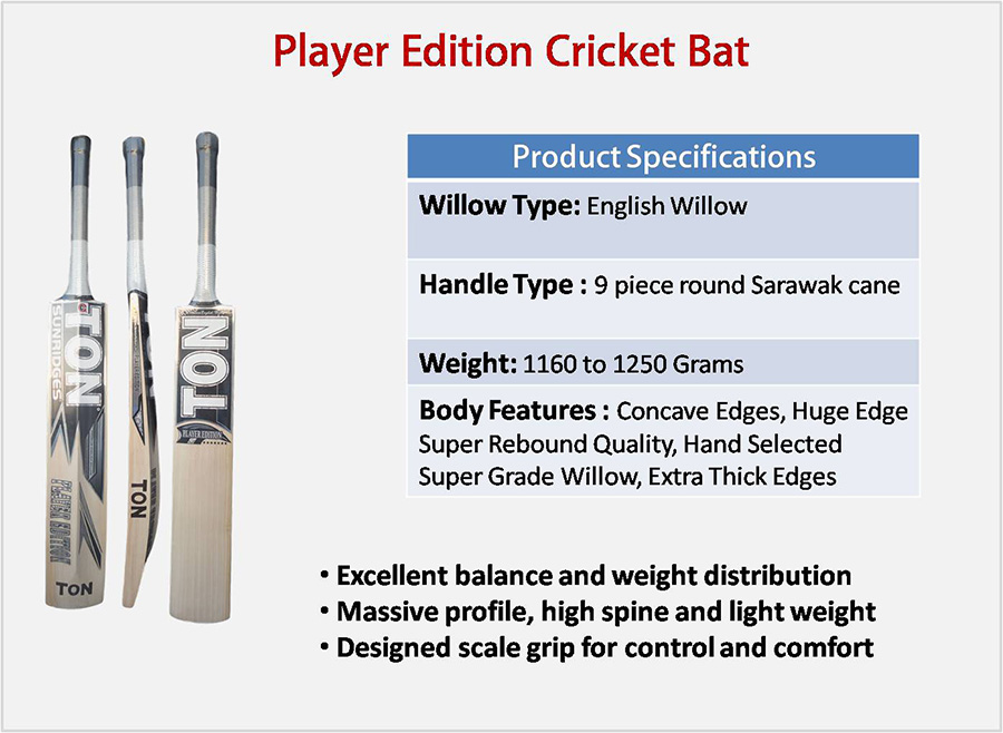 Player Edition SS English Willow Cricket Bat