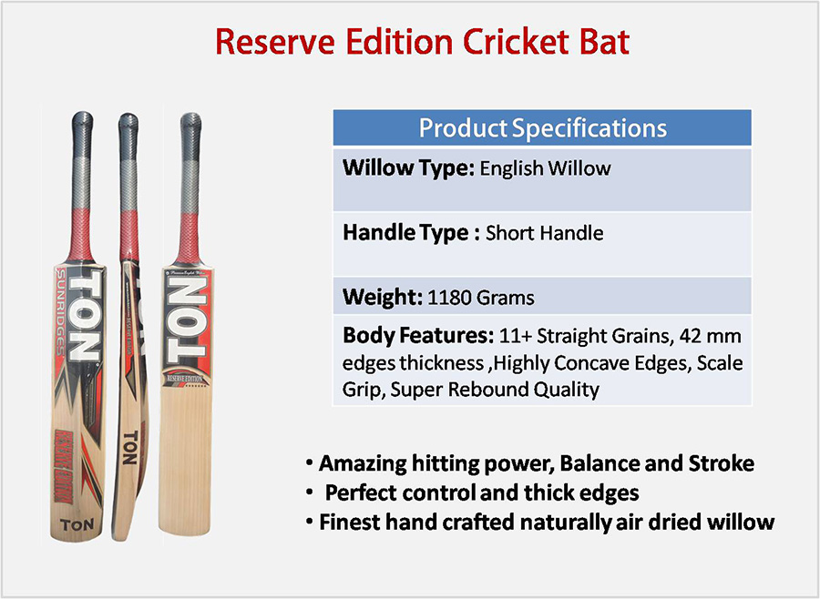 Reserve Edition SS English Willow Cricket Bat