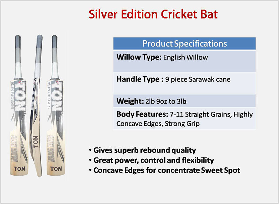 Silver Edition SS English Willow Cricket Bat