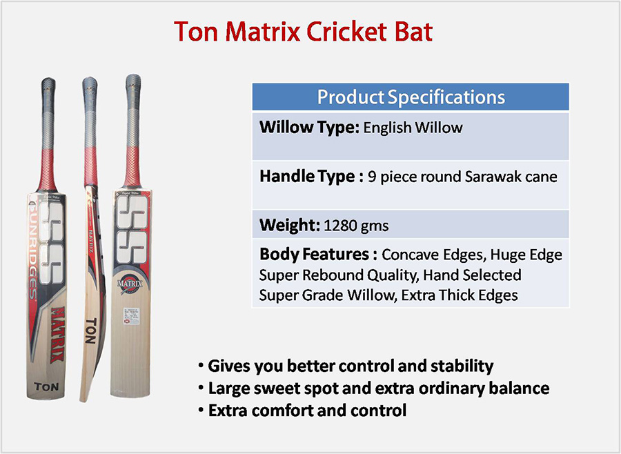 Ton Matrix SS English Willow Cricket Bat