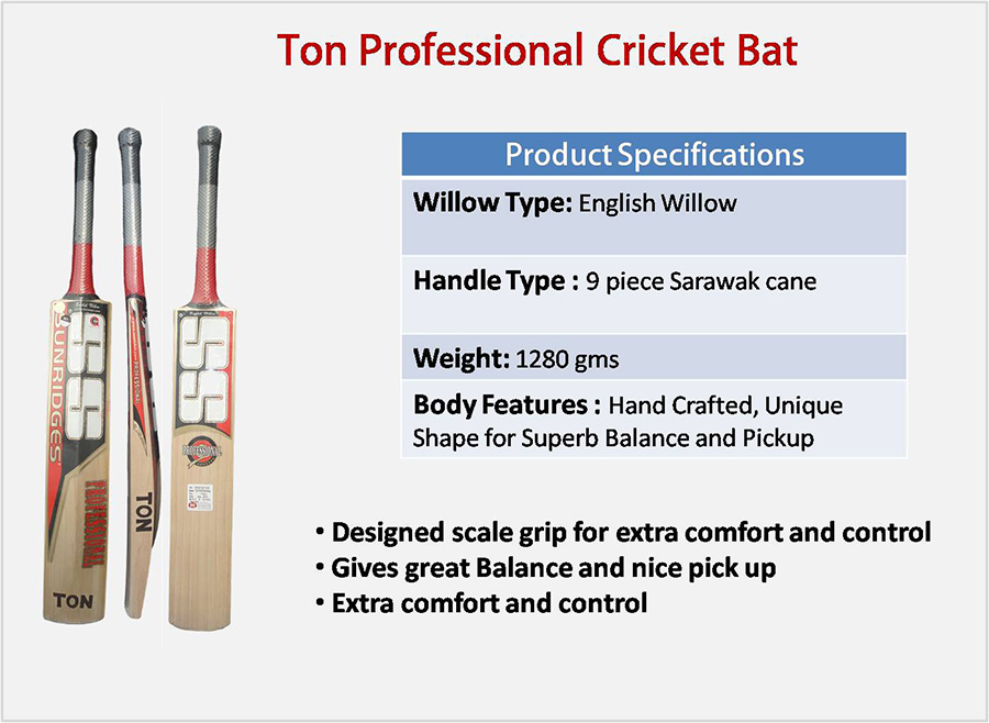 Ton Professional SS English Willow Cricket Bat