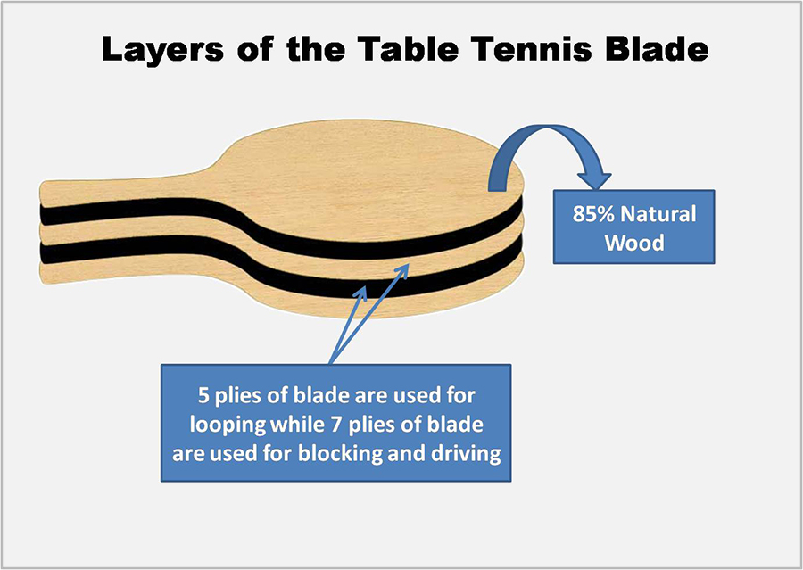 Layers of the Table Tennis Blade
