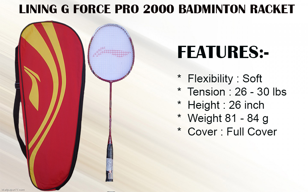 LINING G FORCE PRO 2000 BADMINTON RACKET