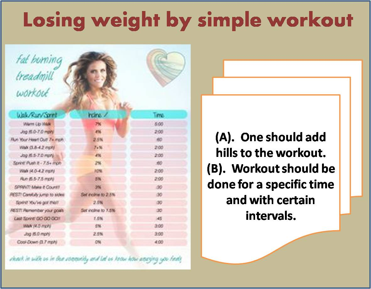 Losing weight by simple workout
