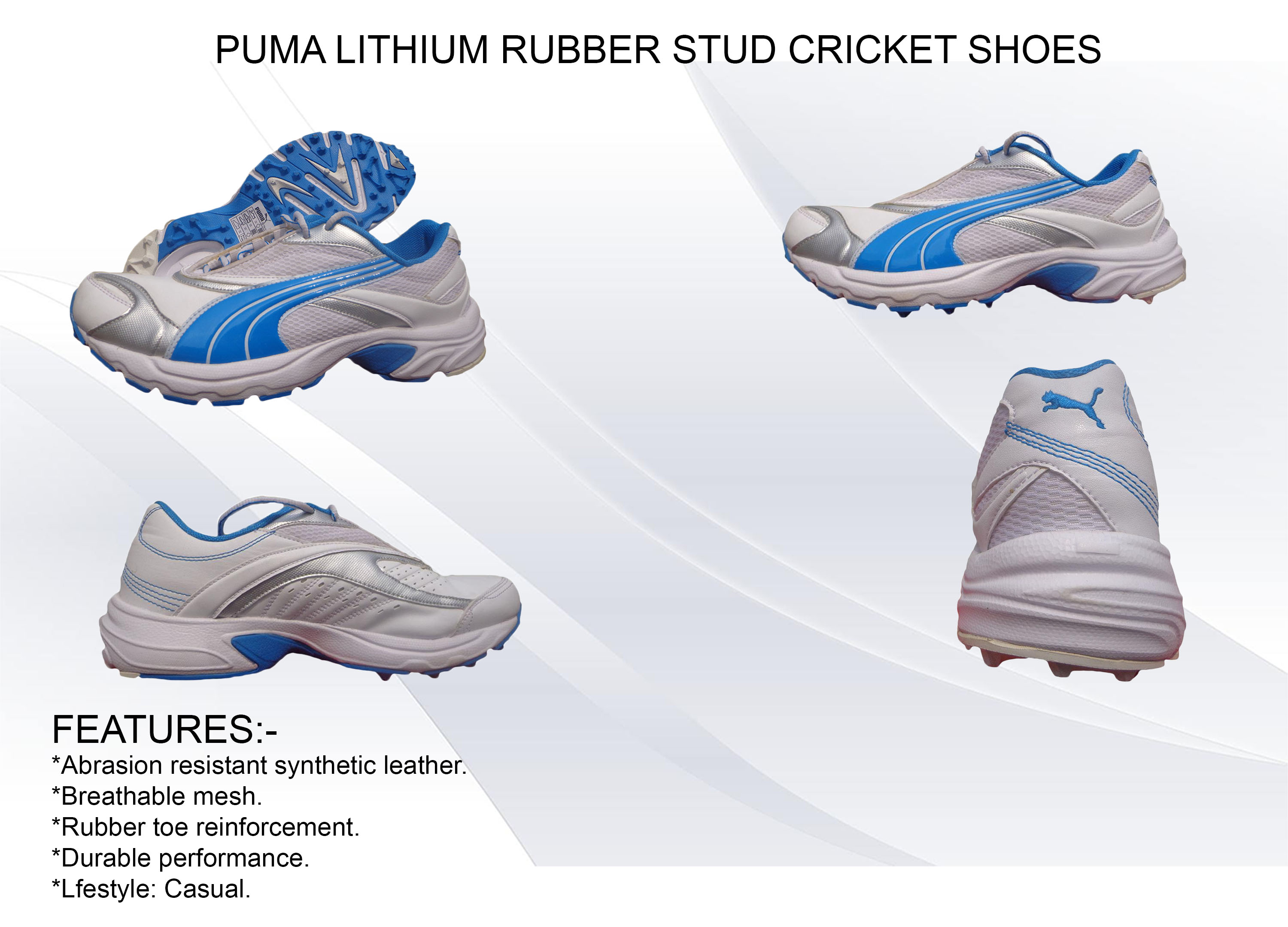 PUMA LITHIUM RUBBER STUD CRICKET SHOES