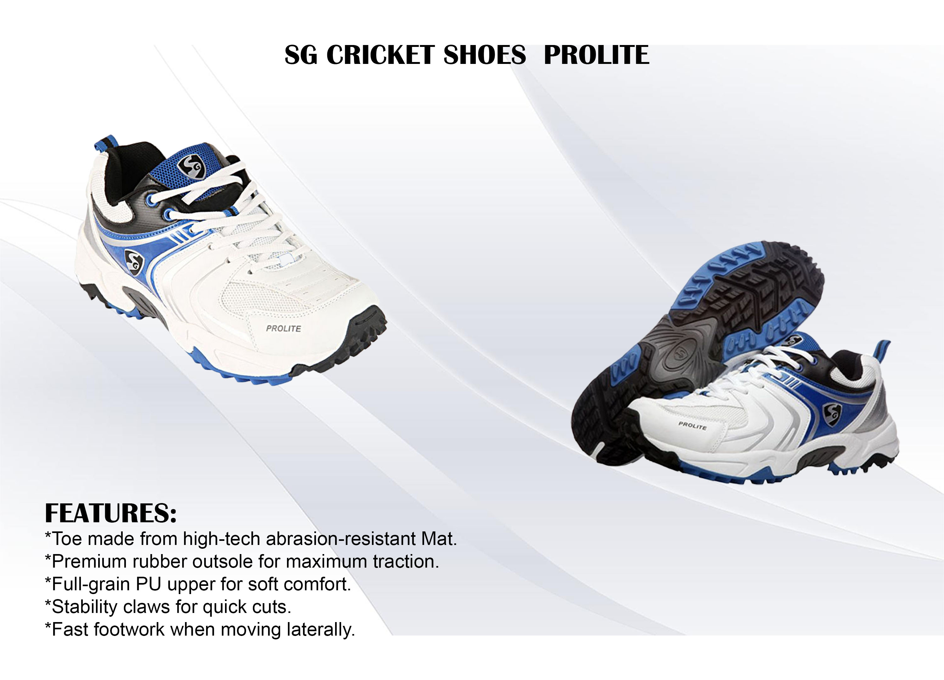 SG CRICKET SHOES PROLITE