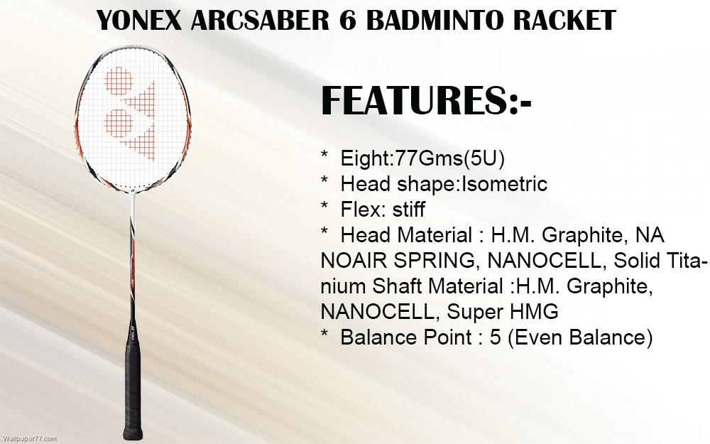 YONEX ARCSABER 6 BADMINTO RACKET