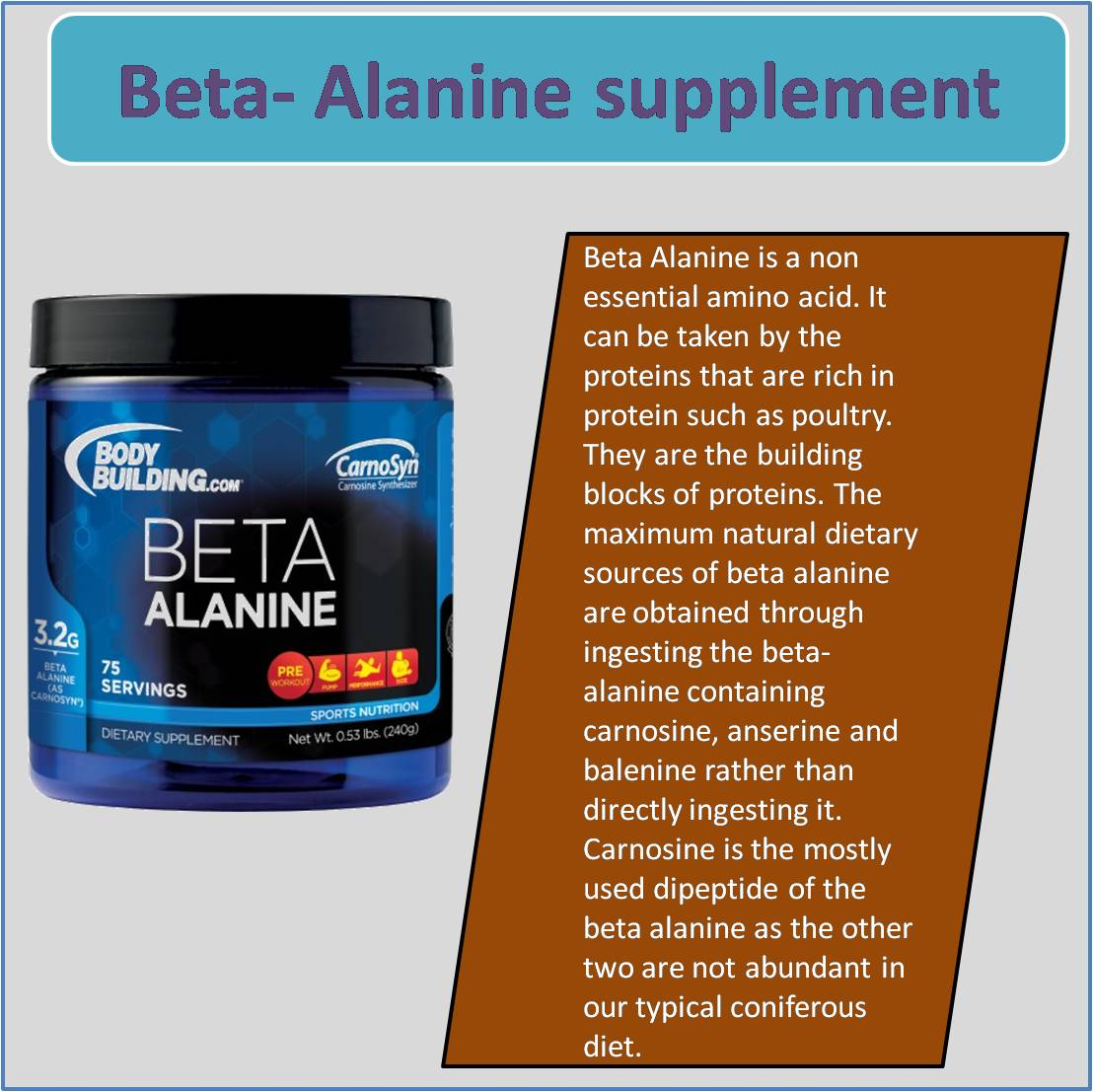Beta- Alanine supplement