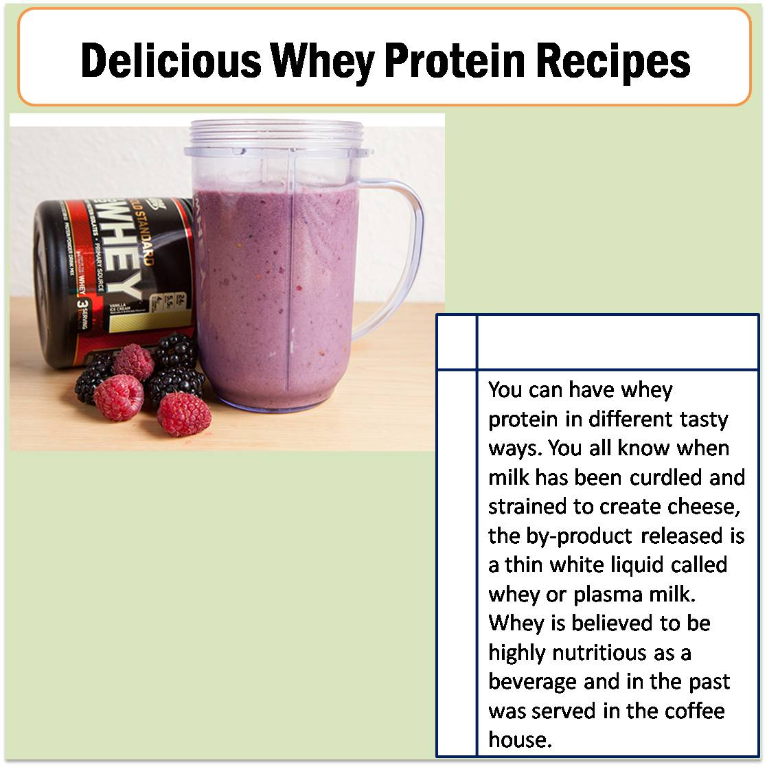 Delicious Whey Protein Recipes