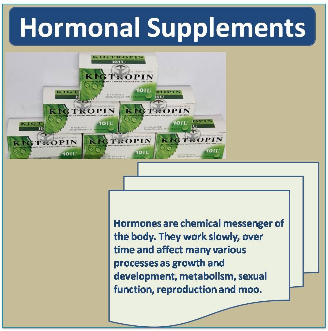 Hormonal Supplements