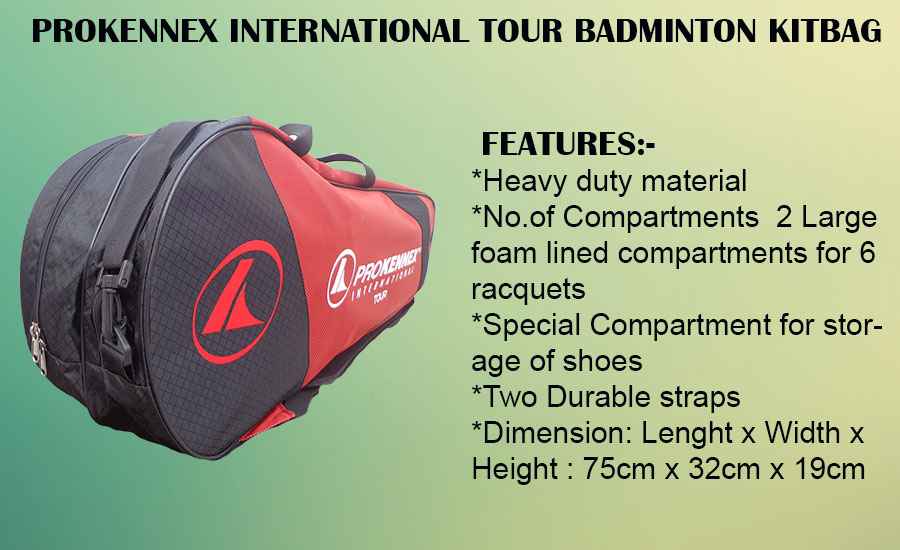 Prokennex International Tour Badminton Kit Bag Red and Black
