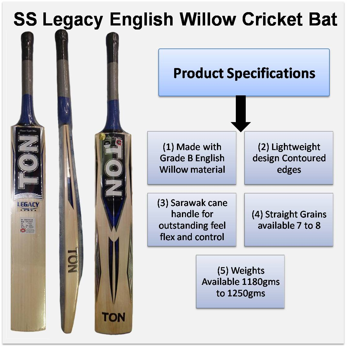 SS legacy English Willow Cricket Bat