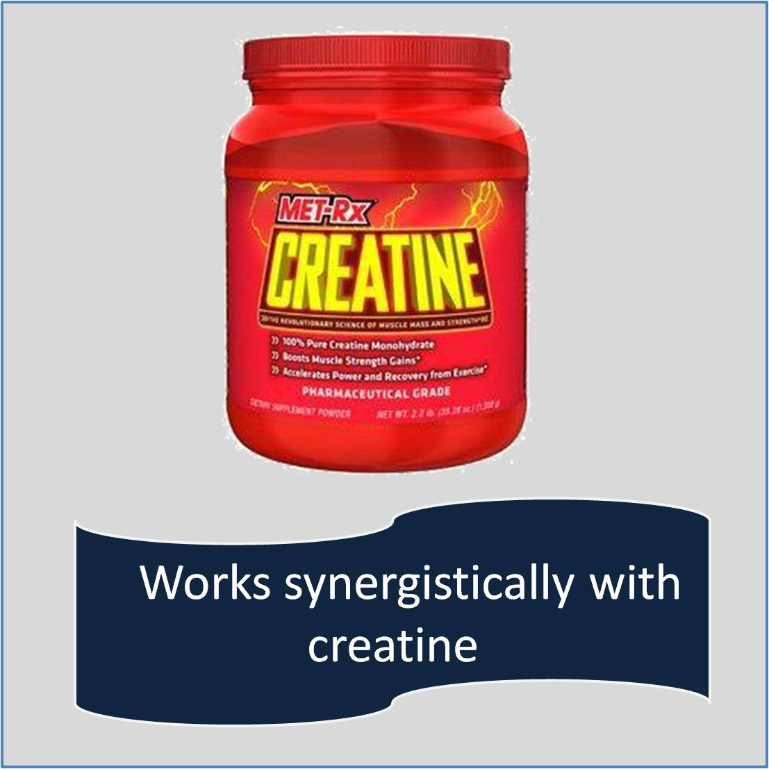 Works synergistically with creatine