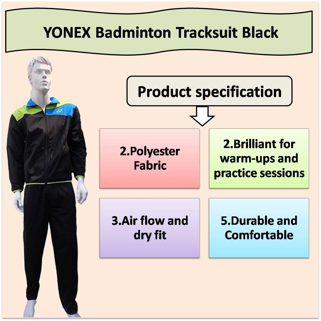YONEX Tracksuit Badminton Shorts Black